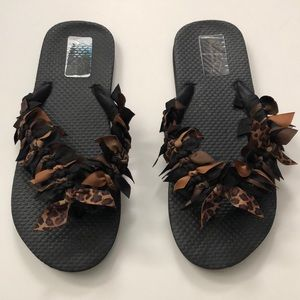 Bows on Toes Ribbon Bow Tied Flip Flops